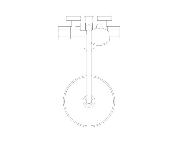 bimstore plan image of the Tempesta System - 250 Shower System - 26672000 from Grohe