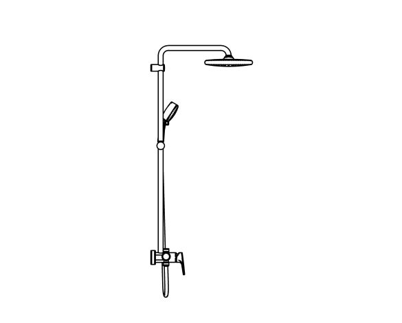 bimstore side image of the Tempesta System - 250 Shower System - 26673000 from Grohe