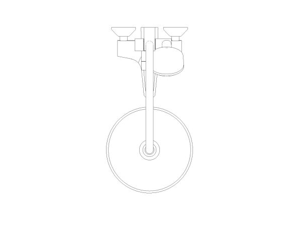 bimstore plan image of the Tempesta System - 250 Shower System - 26674000 from Grohe