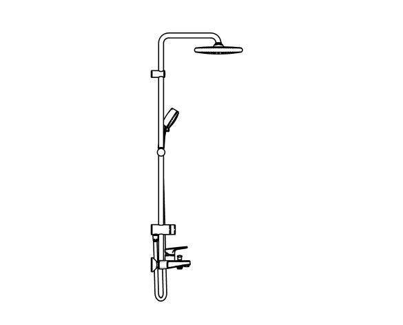 bimstore side image of the Tempesta System - 250 Shower System - 26674000 from Grohe