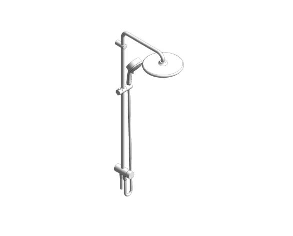 bimstore 3D image of the Tempesta System - 250 Shower System - 26675000 from Grohe