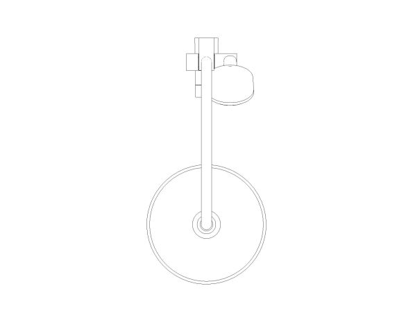 bimstore plan image of the Tempesta System - 250 Shower System - 26675000 from Grohe