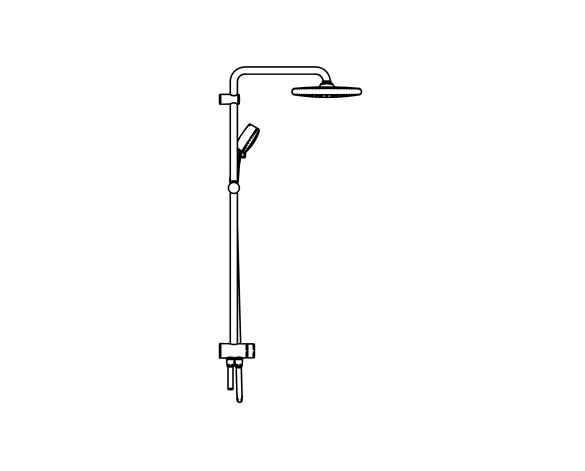 bimstore side image of the Tempesta System - 250 Shower System - 26675000 from Grohe