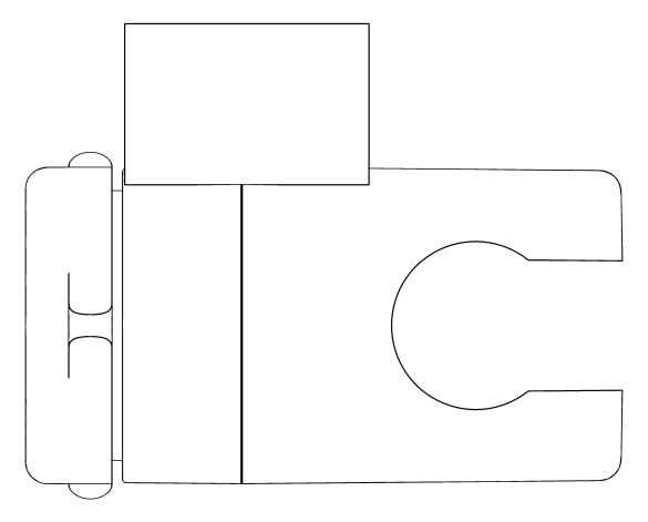 bimstore plan image of the Tempesta Wall Hand Shower Holder - 27595000 from Grohe