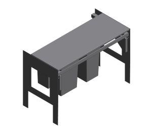 Product: Waste separation system 90 cm - 8 l / 8 l / 11 l - 40983000