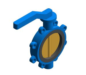 Product: Fig. 970 - Fully-lugged Wafer Pattern Butterfly Valve