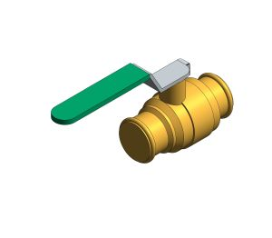 Product: DZR Press Fit Ball Valve - Lever - Fig. 114.PF