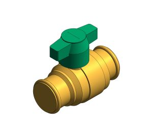 Product: DZR Press Fit Ball Valve - T Handle - Fig. 114TH.PF
