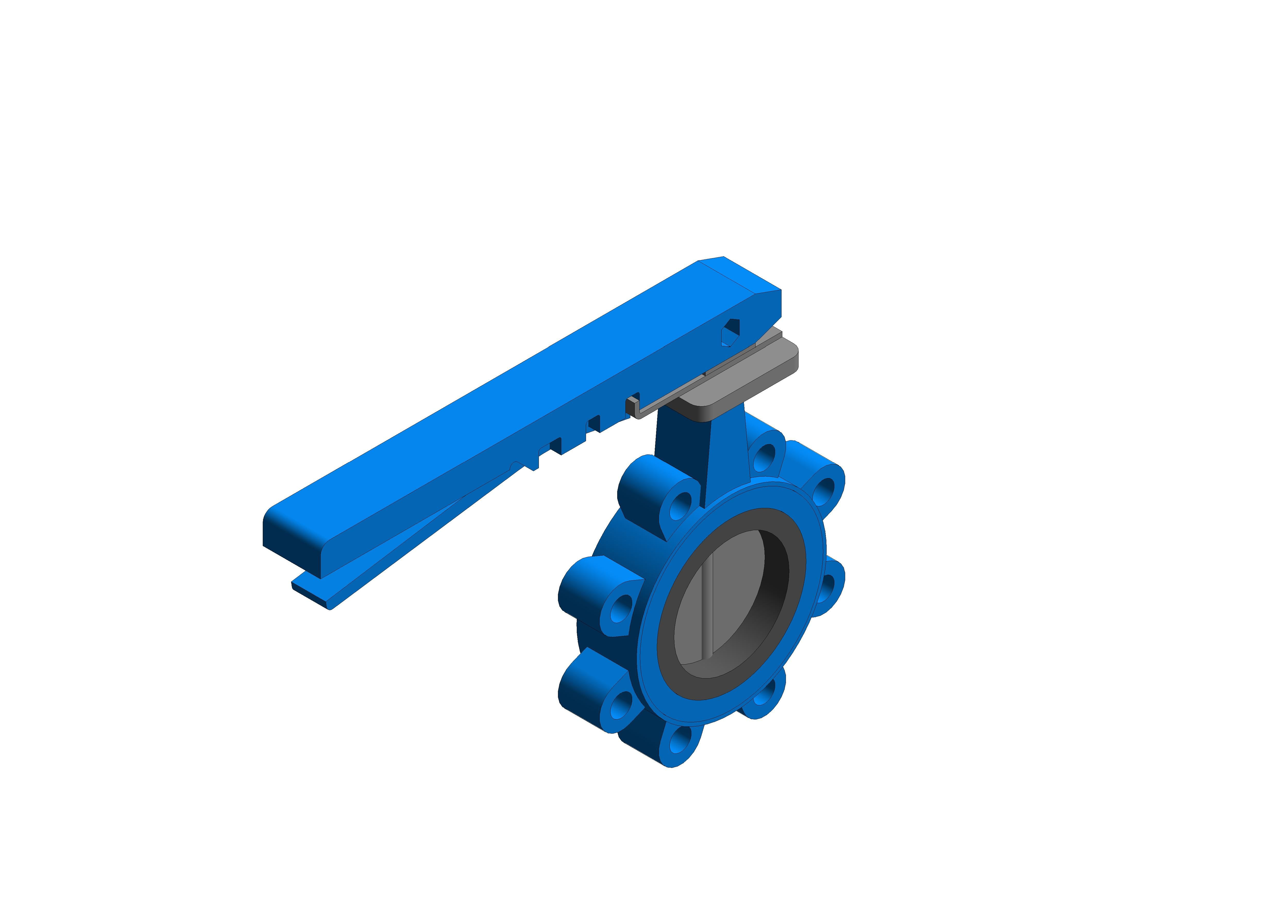 Image of Butterfly Valve Lever Operated - Fig 4925