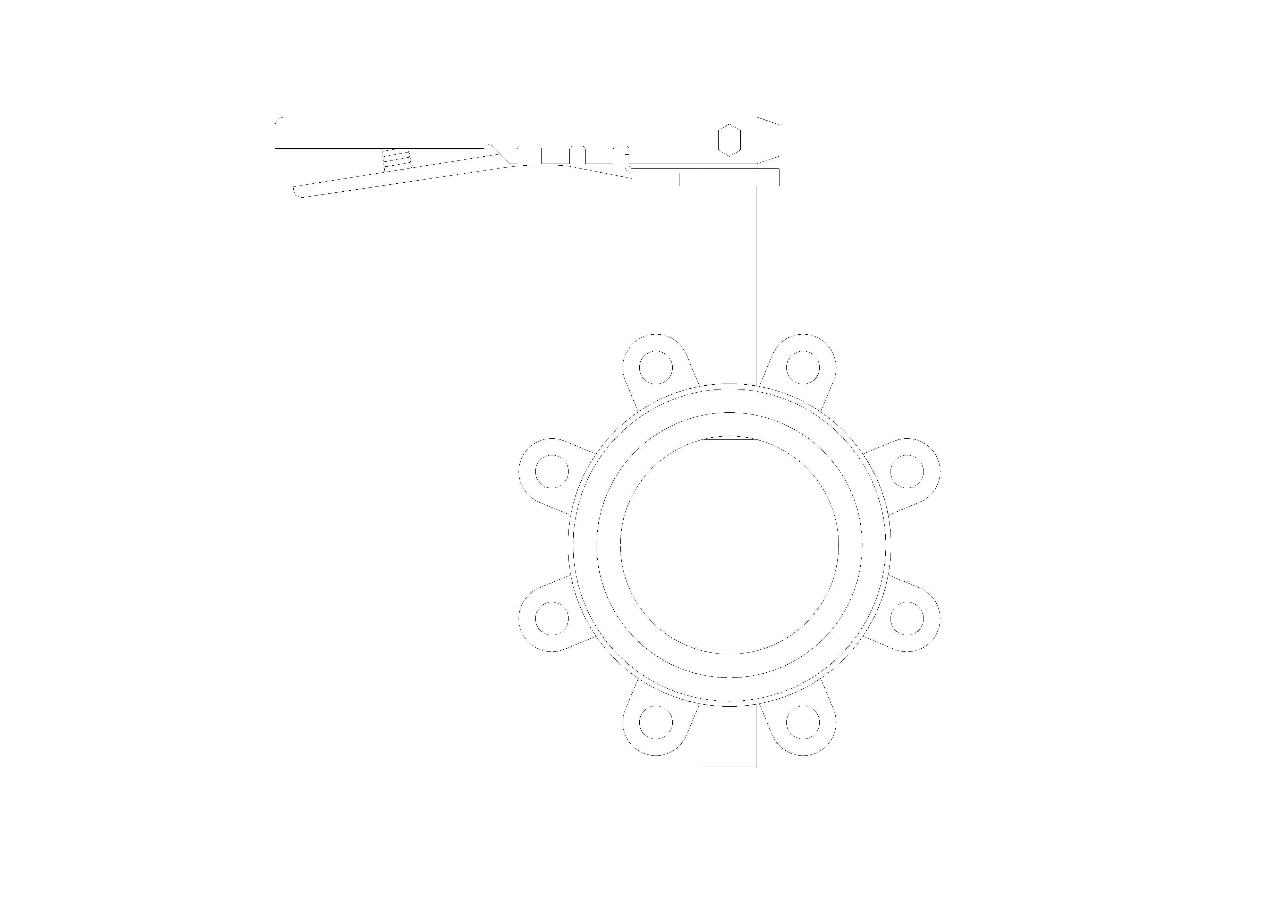 Image of Butterfly Valve Ductile Iron Fully Lugged Lever Operated - Fig 4970
