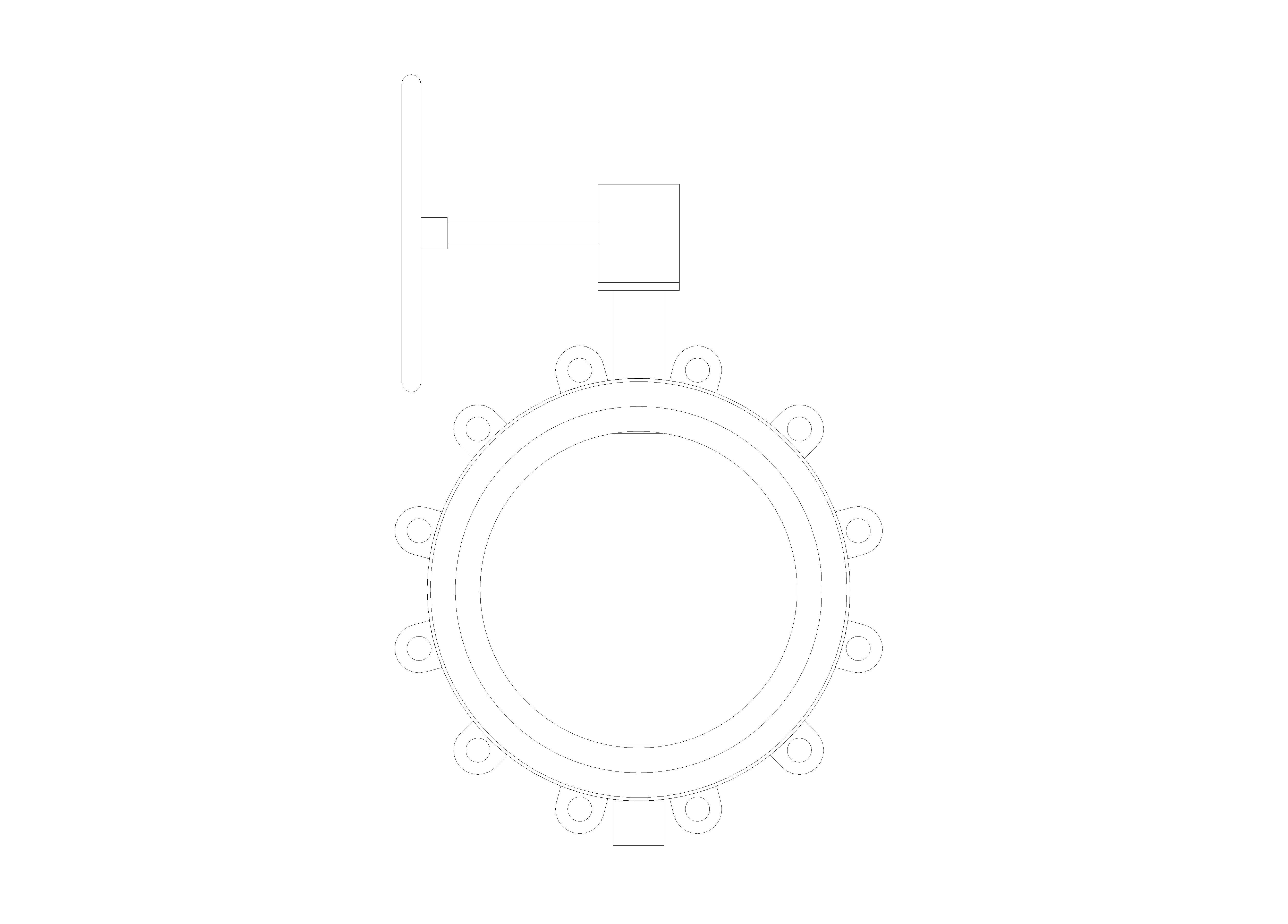 Image of Butterfly Valve Ductile Iron Fully Lugged Gearbox Operated - Fig 4970G