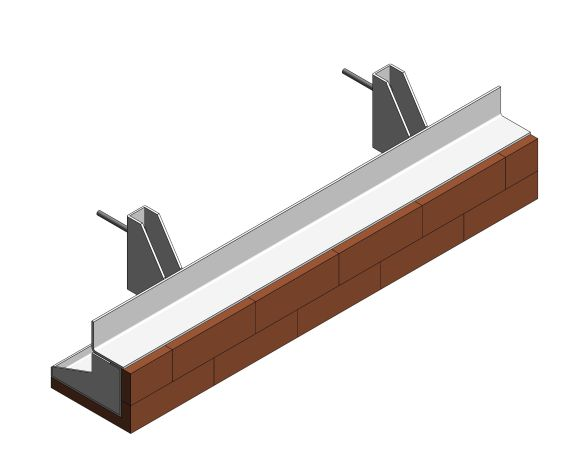 IG Masonry Support - Brick On Soffit System - ISO Stretcher