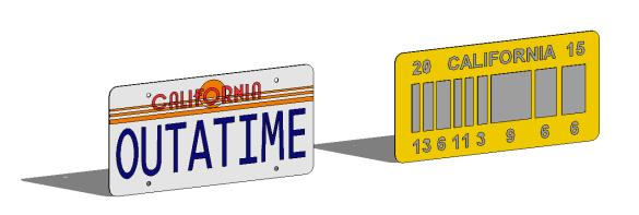 Back to Future Decorative License Plate