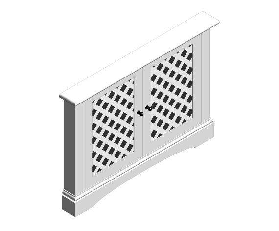 Radiator Cover - 2 Panel