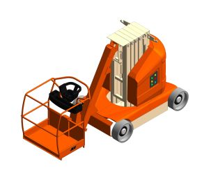 Product: T12E Plus - Toucan® Mast Boom Lift