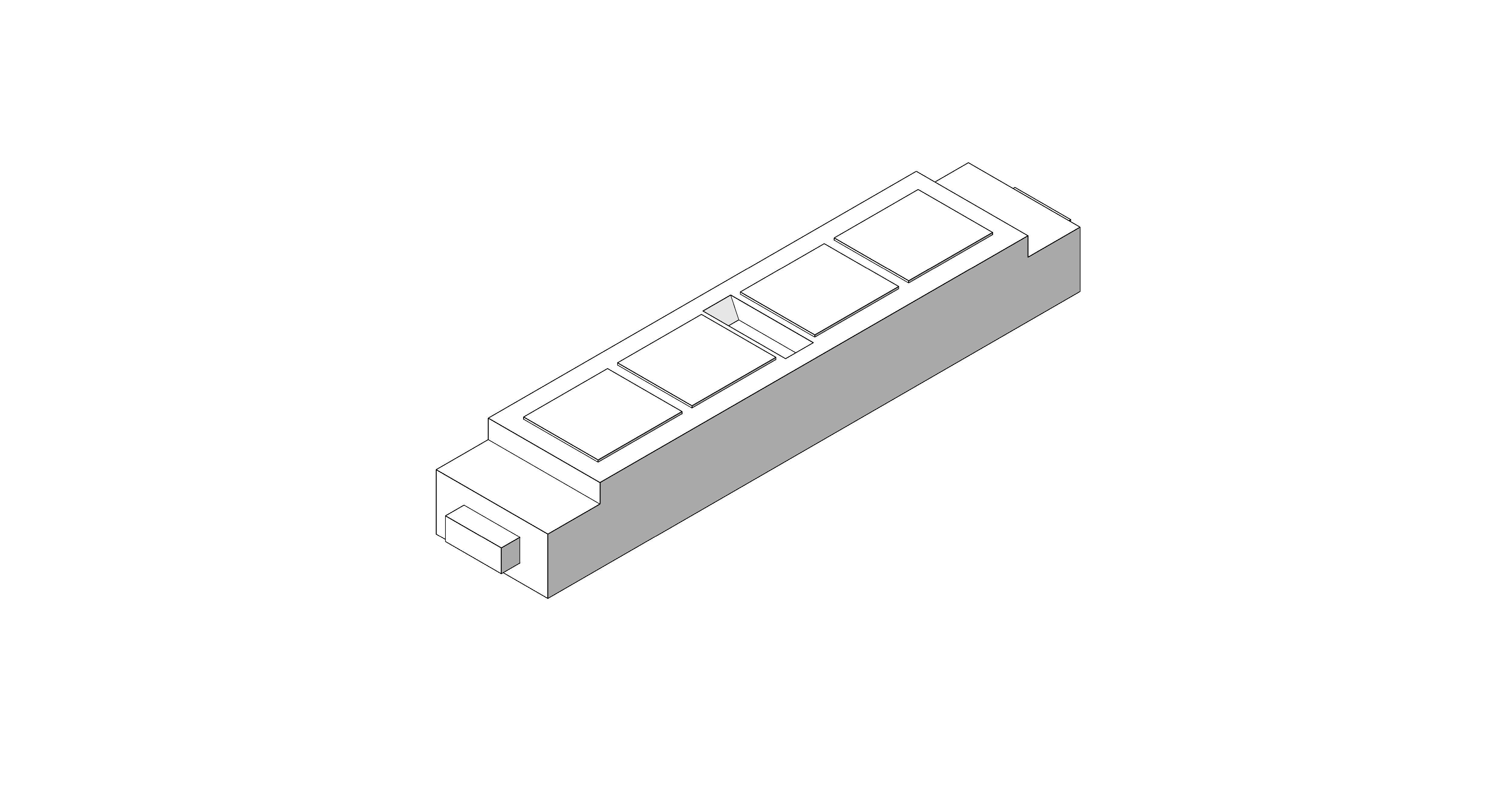 Product: Desk Module - 4 Gang - Ali 32 Amp Power Module