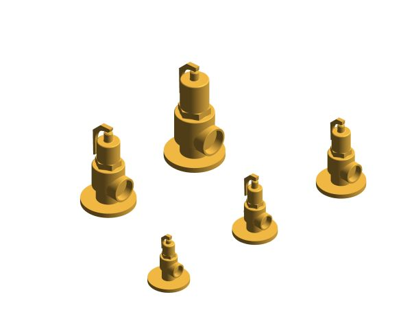 bimstore 3D all image of the NABIC Fig 542F - Safety Relief Valve