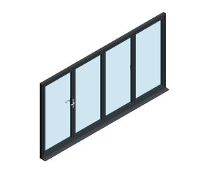 Product: OB-49 Aluminium Bi-fold Door (1+3)