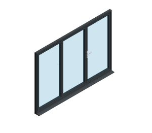 Product: OB-49 Aluminium Bi-fold Door (2+1)