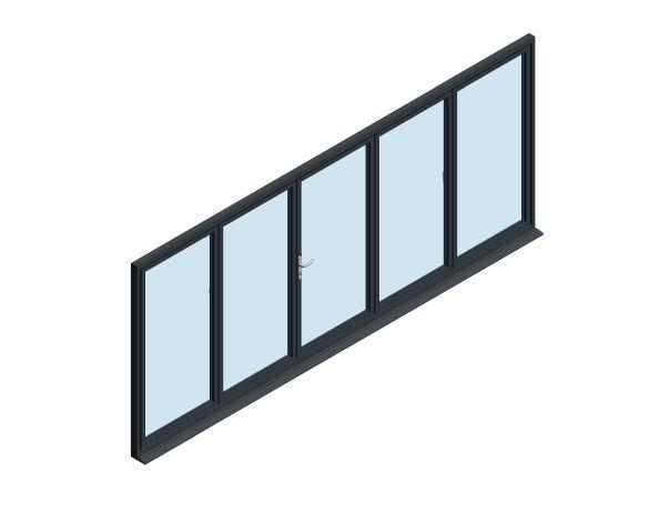Product: OB-49 Aluminium Bi-fold Door (2+3)