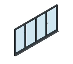 Product: OB-49 Aluminium Bi-fold Door (3+1)