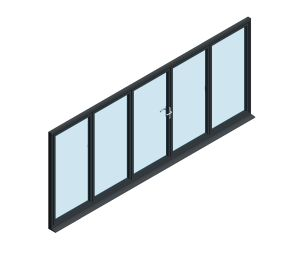Product: OB-49 Aluminium Bi-fold Door (3+2)