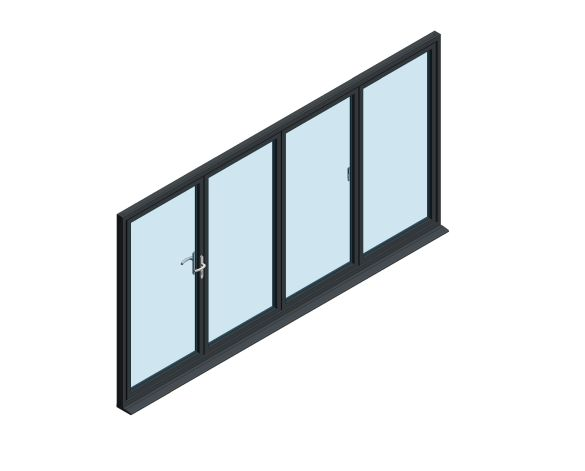 Product: OB-72 Aluminium Bi-fold Door (1+3)