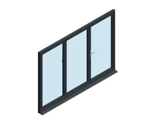 Product: OB-72 Aluminium Bi-fold Door (2+1)