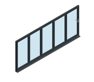 Product: OB-72 Aluminium Bi-fold Door (5+0)