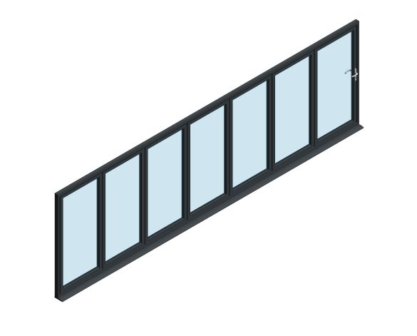 Product: OB-72 Aluminium Bi-fold Door (7+0)