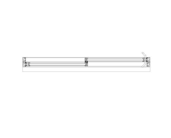 Product: OS-44 Inline Slider Doors