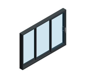 Product: OS-44 Inline Slider Doors - 3 Panel - 1 Fixed / 2 Sliding