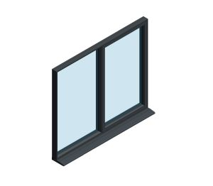 Product: OW-70 Aluminium Window – Fixed / Side Hung