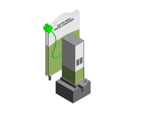 3D image of Pod Point Rapid Charging Point from bimstore