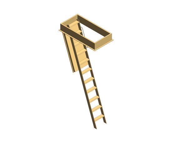 Product: Designo Wooden Loft Ladder