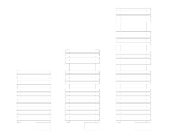 D Series Towel Rail Front Image