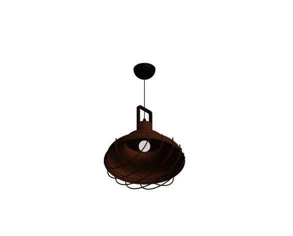 Product: Bella 11 Rusty Industrial Pendant Lighting