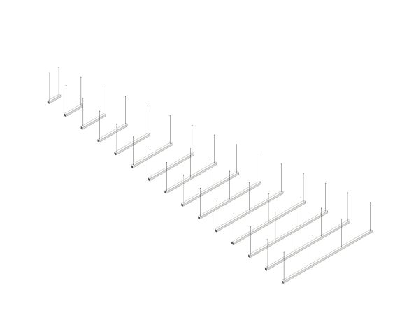 Product: Polaris 1 LED Linear Suspended Luminaire