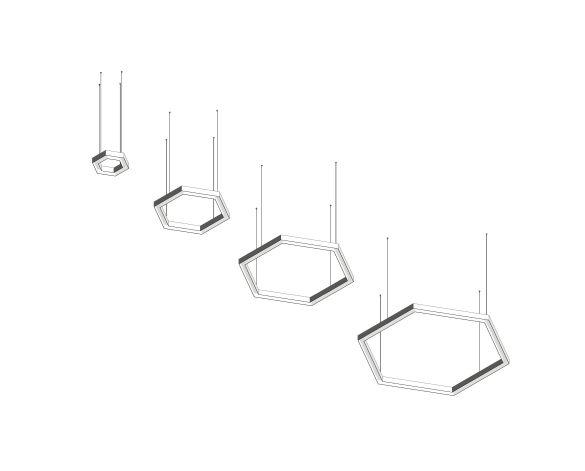 Product: Polaris 1 Hexagon LED Linear Pendant