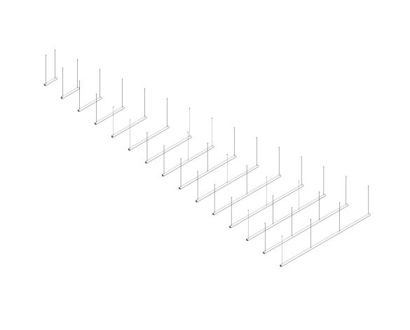 Product: The Tube LED Linear Suspended Luminaire