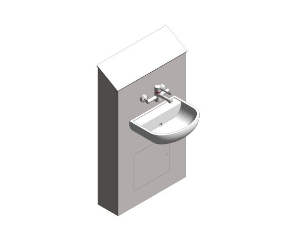 bim, store, revit, quality, content, download, free, trade, washrooms, sanitary, ware, plumbing, clinical, wash, hand, basin, mixing, tap, IPS, Assembly, Half, Height