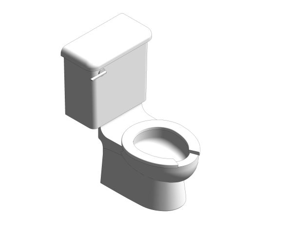 bimstore 3D image of the Close Coupled 300mm Infant WC Set from Trade Washrooms