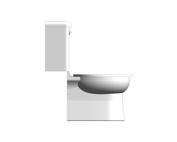 bimstore side image of the Close Coupled 350mm Junior WC Set from Trade Washrooms