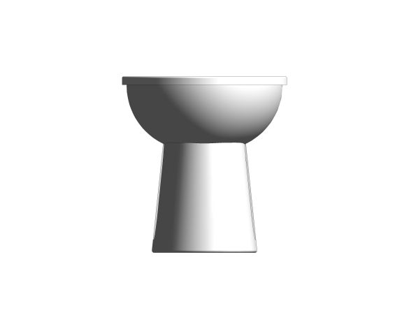 bimstore front image of the Commercial Back to Wall Toilet Pan from Trade Washrooms