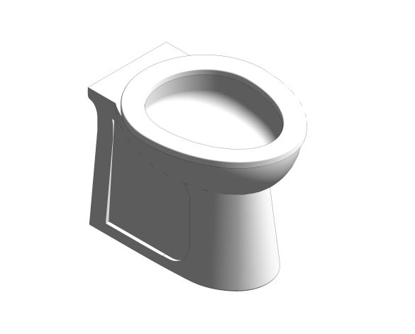 bimstore 3D image of the Commercial Back to Wall Toilet Pan from Trade Washrooms