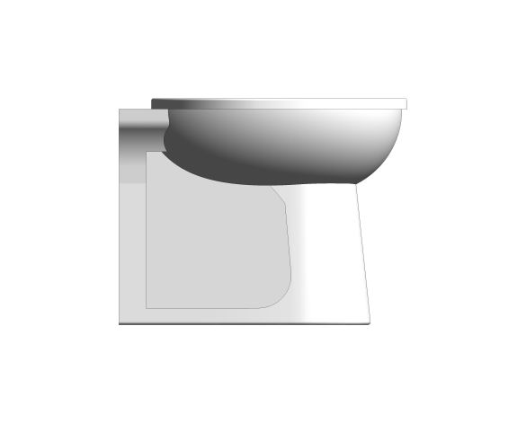 bimstore side image of the Commercial Back to Wall Toilet Pan from Trade Washrooms