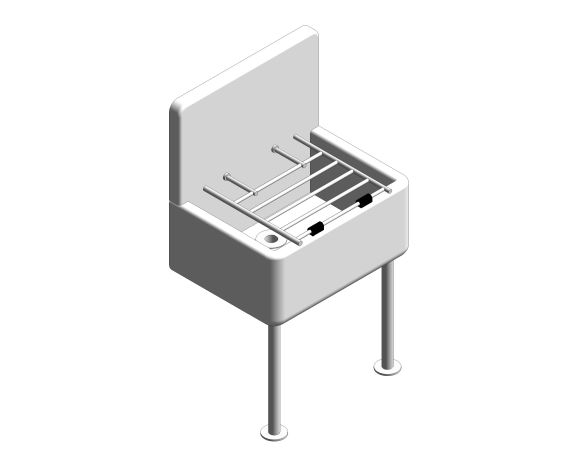bimstore 3D image of the High Back Cleaners Sink from Trade Washrooms