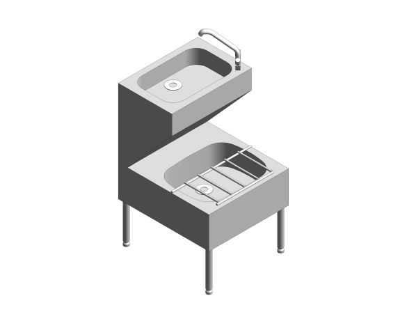bimstore 3D image of the Janitorial Unit And Swivel Mixer Tap from Trade Washrooms