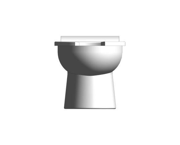 bimstore front image of the Rimless Infant Toilet Pan from Trade Washrooms
