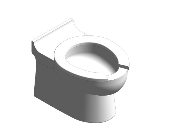 bimstore 3D image of the Rimless Infant Toilet Pan from Trade Washrooms